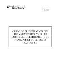 Guide De Présentation D Un Travail écrit Cégep De Saint