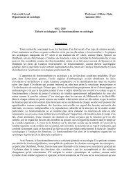 le fonctionnalisme en sociologie - Faculté des sciences sociales ...