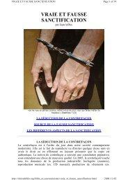 VRAIE ET FAUSSE SANCTIFICATION - Documents bibliques
