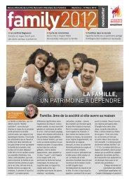 LA FAMILLE, UN PATRIMOINE À DÉFENDRE