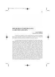 République et républicains : la Réunion (1876-1879) - IUFM de l ...