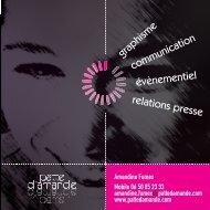 graphisme communication évènementiel relations ... - Patte d'amande