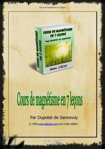 Cours de magnétisme en 7 leçons - Livresnumeriquesgratuits.com