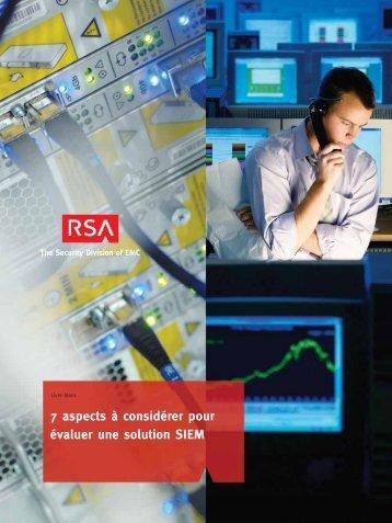7 aspects à considérer pour évaluer une solution SIEM - RSA