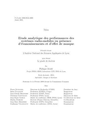 Etude analytique des performances des systèmes radio-mobiles en ...