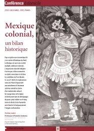 Mexique colonial, un bilan historique - Arts et Vie