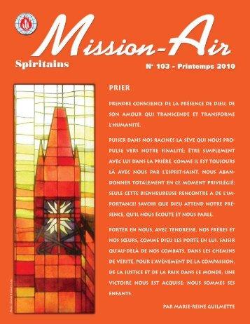 Mission-Air - La Congrégation du Saint-Esprit