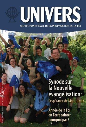 Synode sur la Nouvelle évangélisation : - OPM Canada