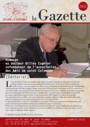 Gazette 2011 - L'association des Amis de Saint Colomban