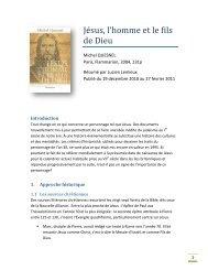 Jésus, l'homme et le fils de Dieu - UNITE PASTORALE Saint ...