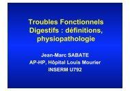 Troubles Fonctionnels Digestifs : définitions ... - Hepato Web