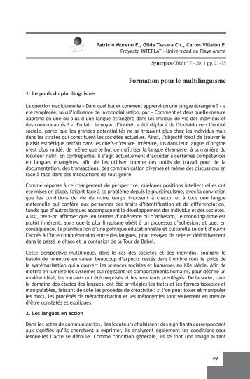 Formation pour le multilinguisme - Université de Franche-Comté