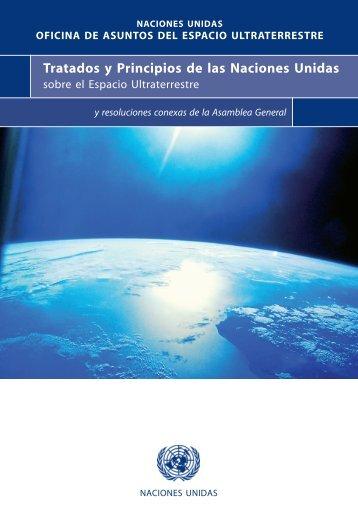 tratados y principios de las naciones unidas sobre el espacio