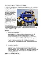 Das europäische System der Zentralbanken (ESZB ... - Sw-cremer.de