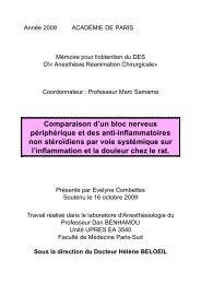 Comparaison d'un bloc nerveux périphérique et des anti ...