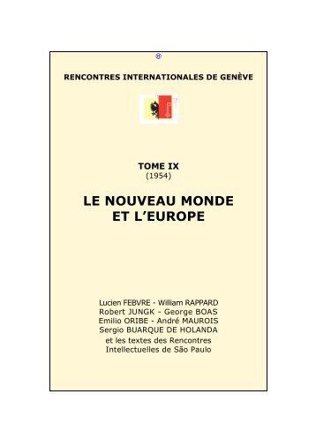 Le Nouveau Monde et L'Europe - Rencontres Internationales de ...