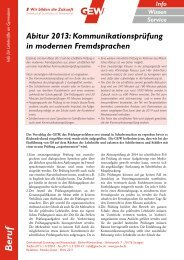 Abitur 2013: Kommunikationsprüfung in modernen ... - TeachersNews