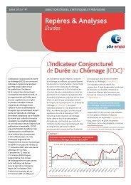 L'indicateur conjoncturel de durée au chômage (ICDC ... - Pôle emploi
