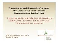 8-Programme de suivi des centrales enrobages I Thomassin