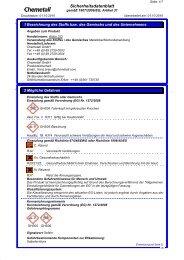 Sicherheitsdatenblatt
