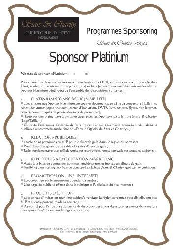 Sponsor Platinium - Stars & Charity