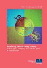Redefining and combating poverty Human rights - Council of Europe