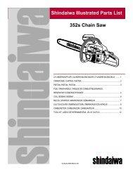 Shindaiwa Illustrated Parts List 352s Chain Saw