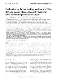Evaluation de la valeur diagnostique en TDM des anomalies ... - sfctcv
