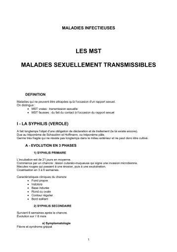LES MST MALADIES SEXUELLEMENT TRANSMISSIBLES