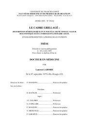 LE CADRE GRILLAGÉ : - Université de Franche-Comté