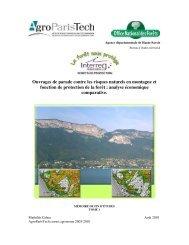 Ouvrages de parade contre les risques naturels en montagne et ...