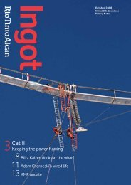 October 2008 Issue - Rio Tinto Alcan Primary Metal BC Operations