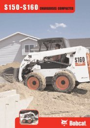 S150-S160 CHARGEUSES COMPACTES - Bobcat
