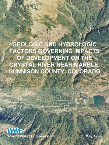 Geologic And Hydrologic Factors Governing ... - Gunnison County