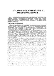 discours explicatif écrit en milieu universitaire - Universitatea Spiru ...