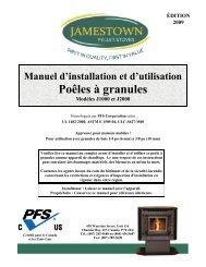 Poêles à granules - Jamestown Pellet Stoves