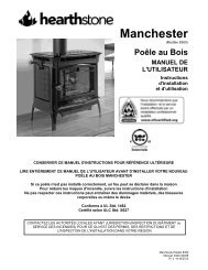 Manchester 8360 Manual - Hearthstone Stoves
