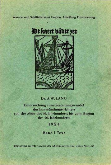 Gestaltungswandel des Emsmündungstrichters von A.W. Lang-1954