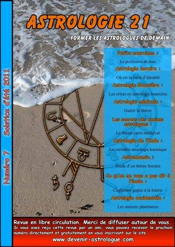 ASTROLOGIE 21 - Devenir astrologue