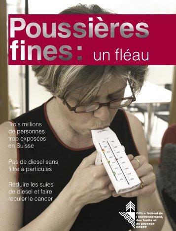 """""""Poussières fines, un fléau"""" (PDF, 1.1 Mo)"""