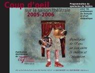 Coup d'oeil 2005-2006 - le Conseil québécois du théâtre