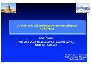 L'avenir de la désensibilisation (immunothérapie ... - CHU Toulouse