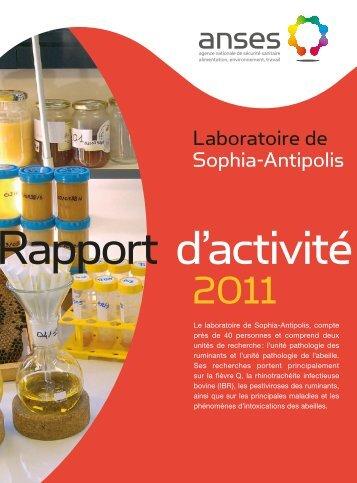 Laboratoire de Sophia-Antipolis - Anses