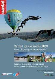 Carnet de vacances 2009 - Cantal Tourisme