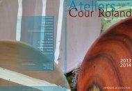 APPRENDRE UN SAVOIR-FAIRE - Ateliers de la Cour Roland
