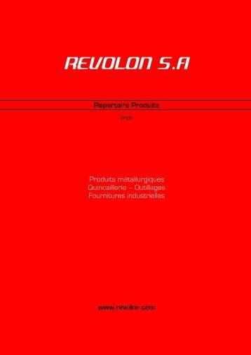 Télécharger notre catalogue produits au format PDF - revolon sa