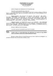 Compte rendu au Conseil Municipal des attributions de - Bayeux