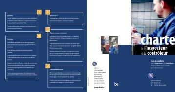 Charte de l'inspecteur et du contrôleur - Favv