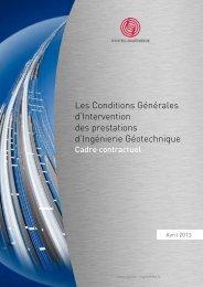 Les Conditions Générales d'Intervention des ... - Syntec ingenierie