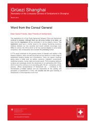 Newsletter of the Consulate General of Switzerland in ... - SinOptic